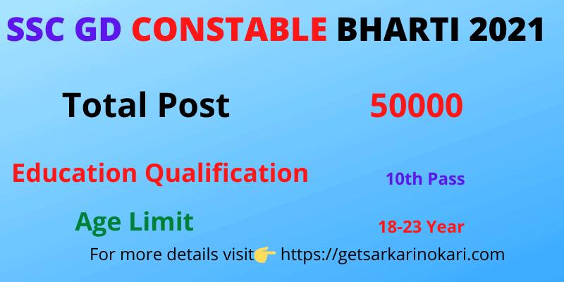 SSC Constable GD Bharti 2021