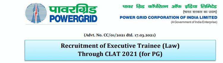 Power Grid Corporation Bharti 2021