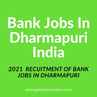Dharmapuri jobs   Bank jobs in Dharmapuri