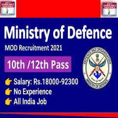 Ministry Of Defence Recruitment 2021 Ministry Of Defence Jobs