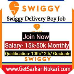 Swiggy Delivery Boy Job Careers at Latest Vacancy, Swiggy Careers, Swiggy Delivery Job.