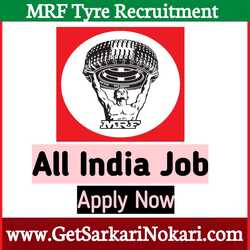 MRF Recruitment 2021 Careers at Latest Vacancy