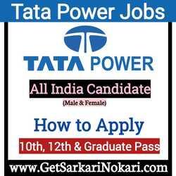 Tata Power Recruitment 2021 Jobs