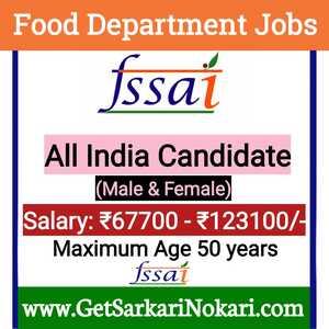 Food Department Recruitment 2021