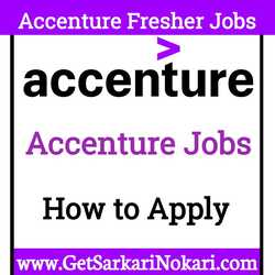 Accenture Jobs for Freshers Latest Bumper Vacancy